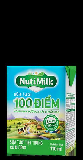 NutiMilk Sữa tươi 100 điểm Có đường