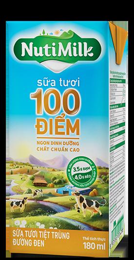 NutiMilk Sữa tươi 100 điểm Đường đen