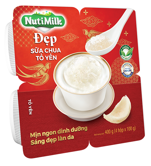 NutiMilk Đẹp - Sữa chua Tổ Yến