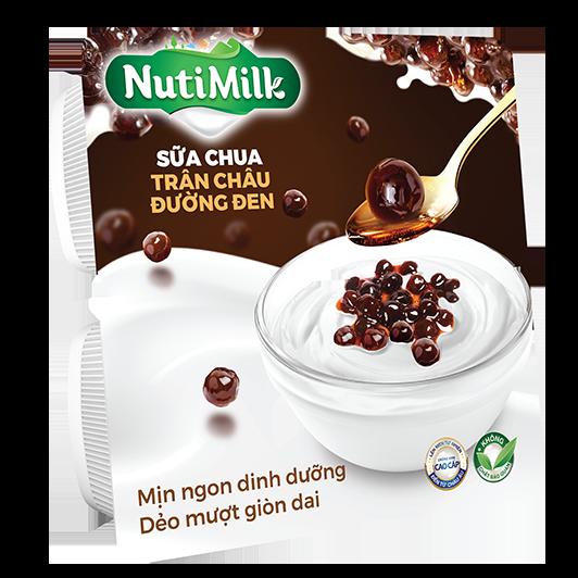 NutiMilk Sữa chua Trân Châu Đường Đen
