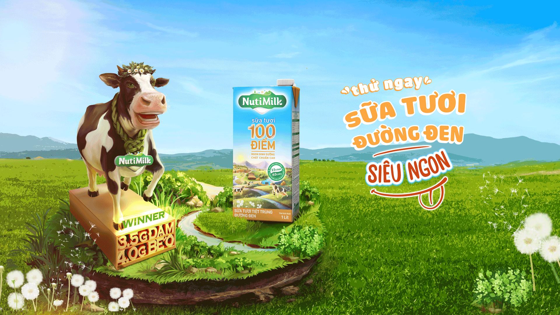 Thử ngay sữa tươi đường đen NutiMilk siêu ngon!